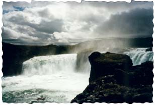 Largest waterfall in Iceland